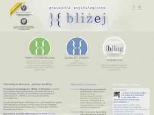 www.blizej.com.pl - psycholog